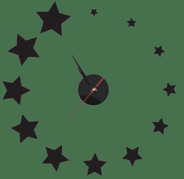 שעון קיר מדבקה כוכבים