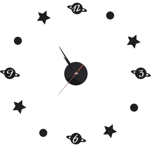 שעון קיר מדבקה כוכב לכת